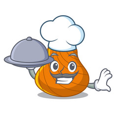 chef with food hard shell mascot cartoon vector image