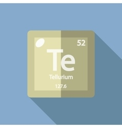 Chemical element Tellurium Flat vector image