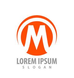 Circle initial letter m logo concept design vector