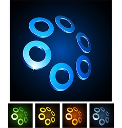 Circles vibrant emblems vector