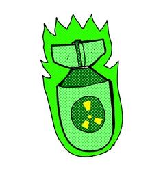 Comic cartoon atomic bomb vector