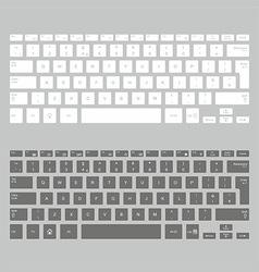 Computer keyboards vector image