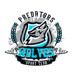 Design for printing on t-shirts a wolf howling at vector