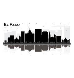 el paso texas city skyline silhouette with black vector image