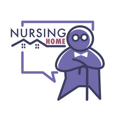Elderly care or nursing home isolated icon vector