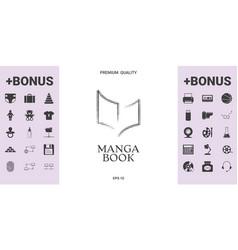 Elegant halftone logo with book symbol - graphic vector