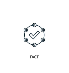 fact concept line icon simple element vector image