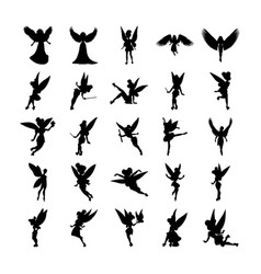 Fairy silhouette pack vector