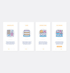 fastfood sweet dessert for food cafe ux ui vector image