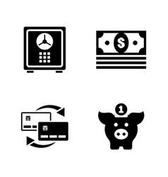 Financial simple related icons vector