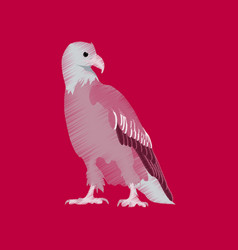 Flat shading style icon eagle vector