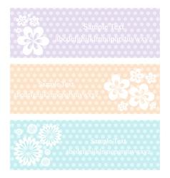flower vintage eps10 vector image