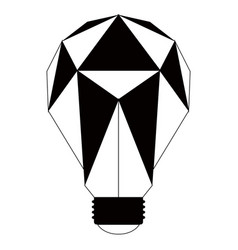 geometric lightbulb silhouette vector image