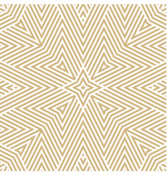 geometric lines seamless golden linear pattern vector image