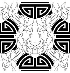 Geometric pattern tiger head trendy line design vector image