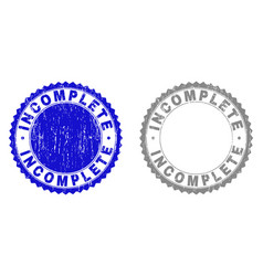 Grunge incomplete scratched stamp seals vector