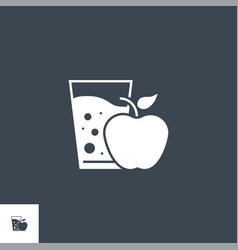 healthy food related glyph icon vector image