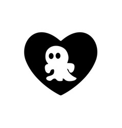 heart black icon love symbol cute halloween vector image