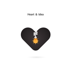Heart sign and Light bulb idea vector image