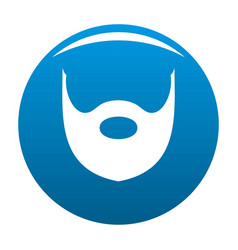 Hipster beard icon blue vector