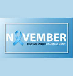 horizontal banner for prostate cancer awareness vector image