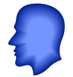 Human blend head vector