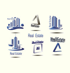 icons for real estate construction i vector image