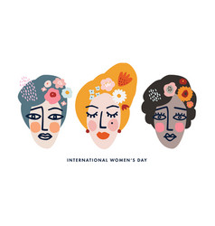 international womens day holiday greeting card vector image