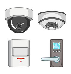 isolated object of cctv and camera logo vector image