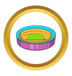Large round stadium icon vector