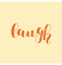 Laugh Brush lettering vector image