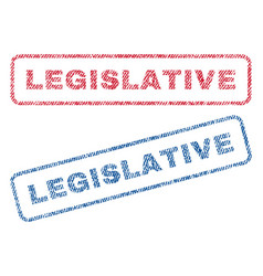 Legislative textile stamps vector