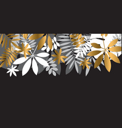 luxury abstract tropical leaves design element vector image