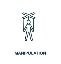 Manipulation icon from personality collection vector