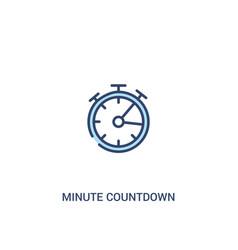Minute countdown concept 2 colored icon simple vector