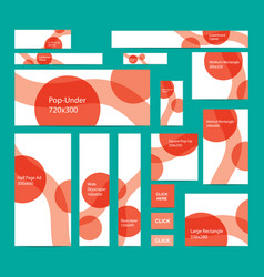 modern web banners set in standard sizes vector image