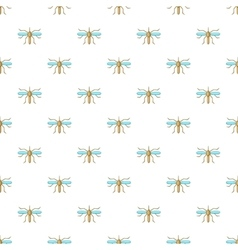 Mosquito pattern cartoon style vector image