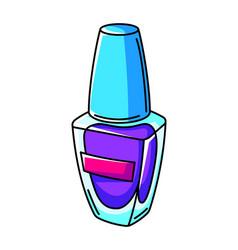 nail polish colorful cute cartoon vector image