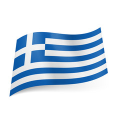 National flag of greece blue and white horizontal vector