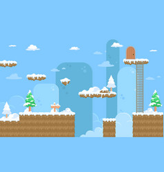 Nature snow game background vector