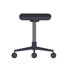 Office chair furniture equipment comfort wheel vector