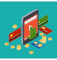 Online banking mobile bank concept vector image