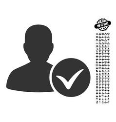 Patient ok icon with men bonus vector