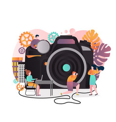photography concept for web banner website vector image