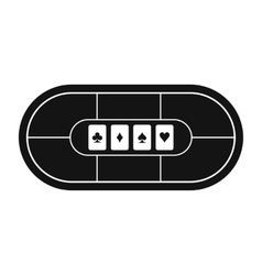 Poker table black simple icon vector