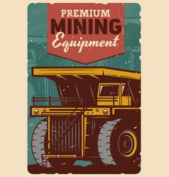 Premium mining equipment coal mine machinery vector