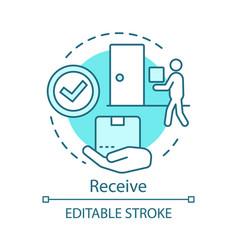 Receive concept icon shipping service idea thin vector