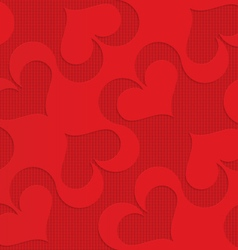 Red diagonal spades on checkered background vector image