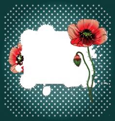 retro poppy background vector image