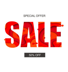 sale banner with special offer vector image